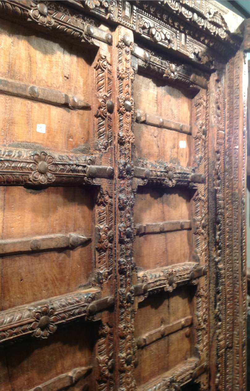 Indian antique door - Temple Styled Doors From Rajasthan India - Nomads.co.uk