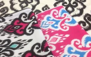 Nomads Altai Cushion Cerise, Black, Pink